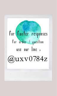 Fastest responses use our LINE