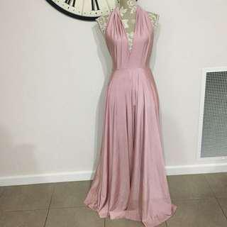 Formal musk pink dress