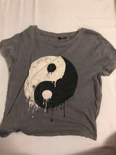 Yin Yang Cropped Shirt