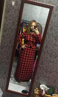 Plus Size Checkered Dress 6XL