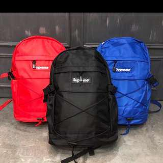 In stock Brand new with tag supreme back pack school bag gym bag