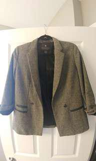Maison Scotch Herringbone Womens Wool Blazer