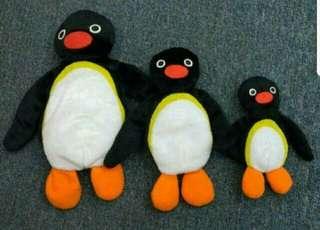 絕版Pingu 公仔一套3隻