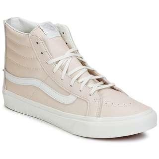 VANS High top pink beige shoes sneakers millennial pink