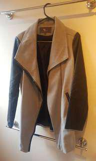 Grey & Pleather Jacket