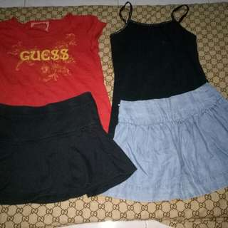 Take all 2Skirt& 2tops(Size 2-3y/o)