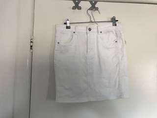 INSIGHT DENIM WHITE SKIRT