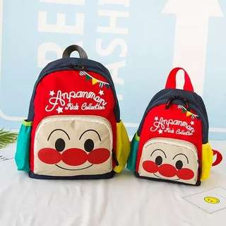 麵包超人背囊 兒童可愛卡通潮背包拼色輕便幼兒園書包
