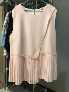 Peach Ruffle Top