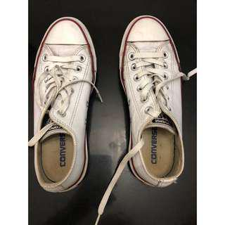 White Leather Converse (low cut)