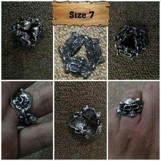 Ring Skull Bikers Stainless Steel