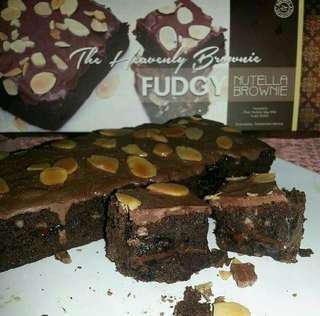 nutella fudgy brownies
