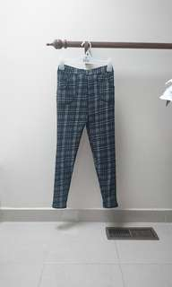 tartan checkered houndstooth plaid pants xs