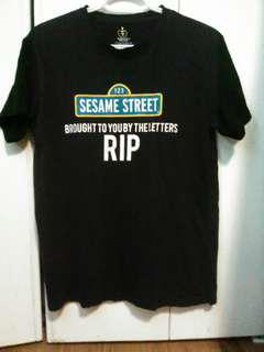 """Sesame Street """"Brought You By The Letters RIP"""" T-shirt"""