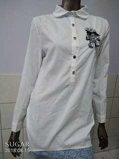 🚚 白色長袖上衣