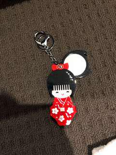 NEW KEYCHAIN JAPAN DOLL