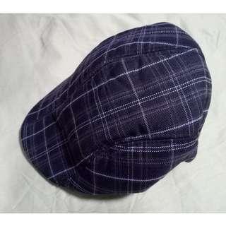 9371e1fc8c3 Gray checkered newsboy cap