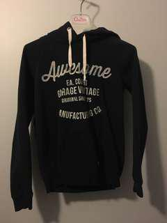 Garage awesome navy hoodie