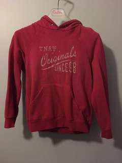 TNA pink fleece hoodie