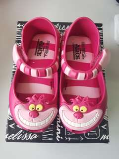Mini Melissa Alice in Wonderland s7 pink 14cm minimel authentic jelly shoes ootd