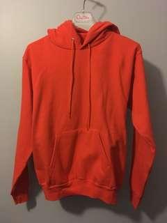 Hanes neon orange hoodie