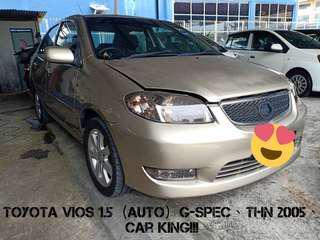 TOYOTA VIOS 1.5 (AUTO) G-SPEC THN 2005,CAR KING‼️