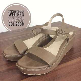 Victoria Strapped Wedges