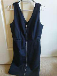 Monki Black Zip Dress