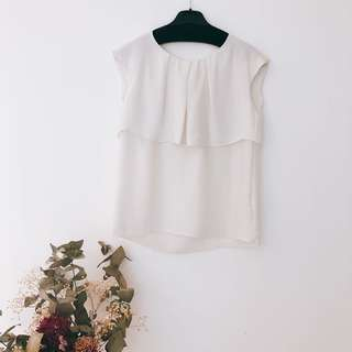 HOLD White Silky Top (Medium 38)