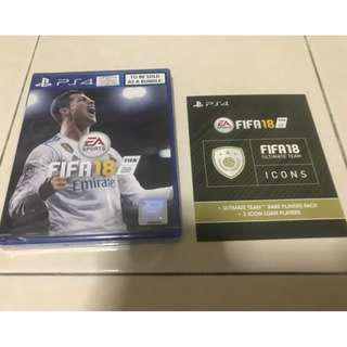 FIFA 2018 with code ultimate team icons [Brand New]