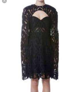 Thurley cape black formal dress