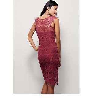 Free People Bodycon Peekaboo Lace Slip Dress NEW!
