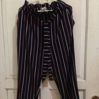 Pullnbear stripe pants