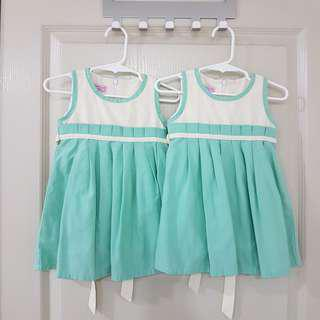 [REDUCED] Mint Green Dress for Twins   Lovely Lace   6-12 Months  