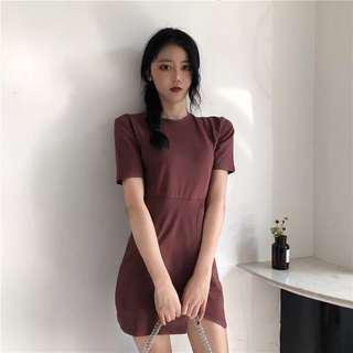 Taobao maroon dress