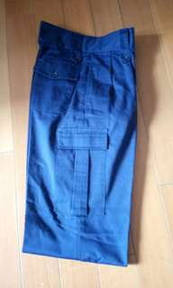 女裝 深藍色斜布褲