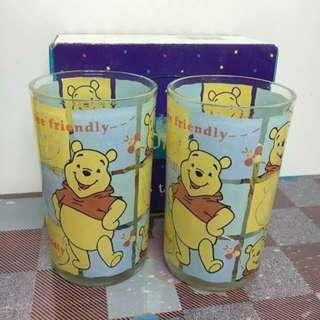 Winnie The Pooh 小熊維尼 玻璃杯 水杯