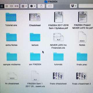 FIN2004 / FIN2004x notes, past year papers, testbank, project, tutorial ans