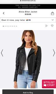 Forever New real leather jacket