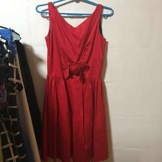 Warehouse red rose dress