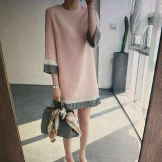 BNWT PLEAT PINK DRESS