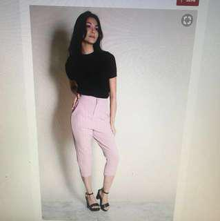 Pleated Pocket Side Pants in Pink