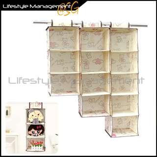 Wardrobe/Cupboard/Closet/Hanger Storage Fabric Organizer - Hanging Organise