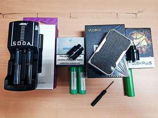 Paket Lengkap Voopoo Drag + Govad RDA + Wotofo Lush Plus