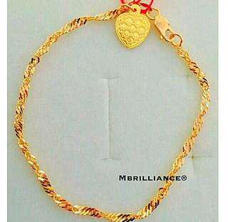 Twist bracelet  916 Yellow Gold by Mbrilliance
