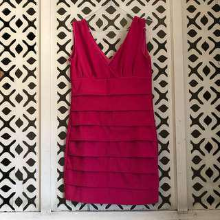 Hot Pink Bodyfit Dress