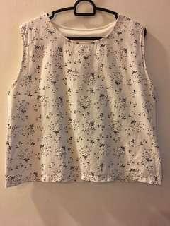 Linen floral top