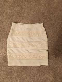 White Mini Skirt (bought from Forever 21)