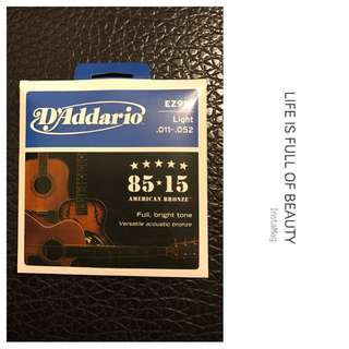 (包平郵) (代Post) 🎉 🎸D'Addario Acoustic Guitar String - By Blue Fusion Music