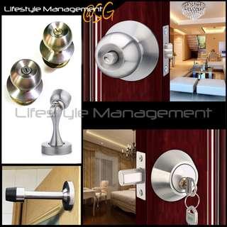 Door Lock Bedroom Magnet Stopper Home/House/Household/Room Doors  Cylindrical Key Lock